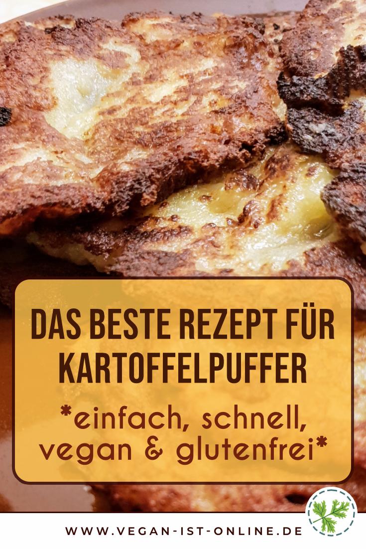Das beste Rezept für Kartoffelpuffer - einfach, schnell, vegan und glutenfrei | Mehr Infos auf www.vegan-ist-online.de