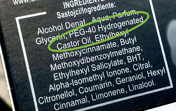 Inhaltsstoff PEG 40 Hydrogenated Castor Oil