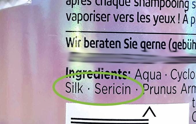 Inhaltsstoff Silk Sericin