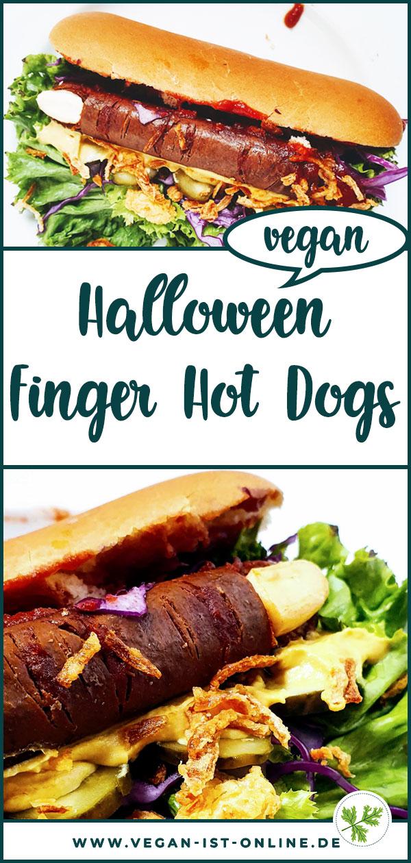 Halloween Finger Hot Dogs vegan | Mehr Infos auf www.vegan-ist-online.de