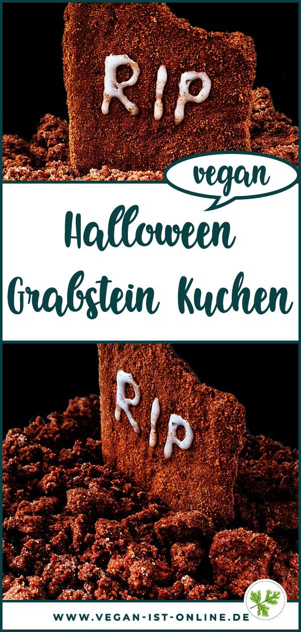 Halloween Grabstein Kuchen vegan | Mehr Infos auf www.vegan-ist-online.de