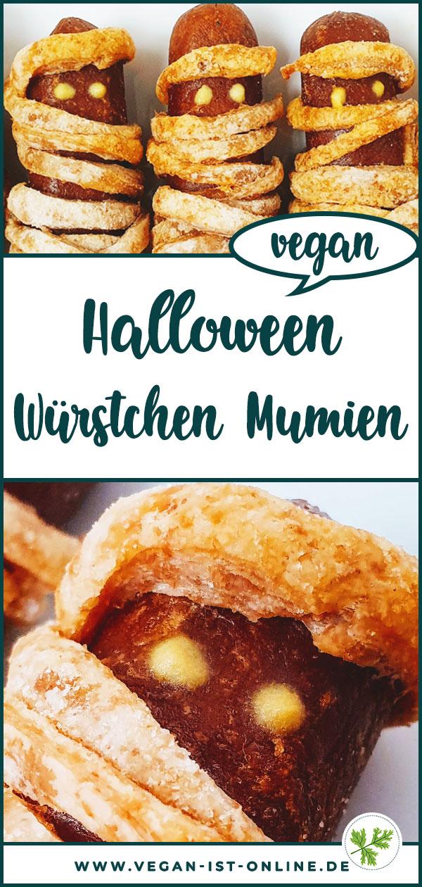 Vegane Halloween Würstchen Mumien | Mehr Infos auf www.vegan-ist-online.de